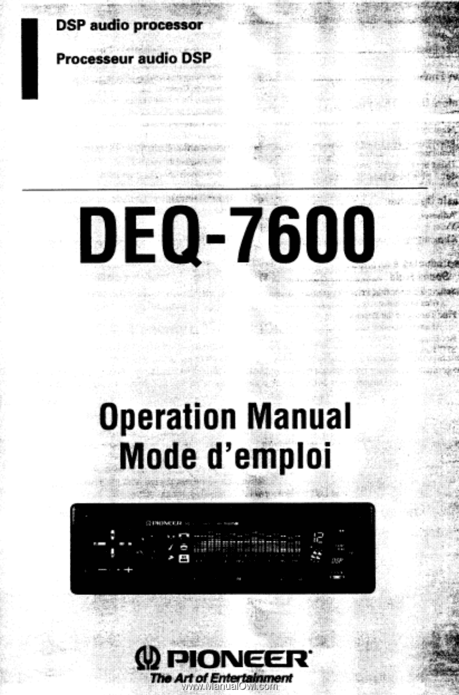 pioneer deq 7600 operation manual rh manualowl com JVC EQ Pioneer Equalizer  6500