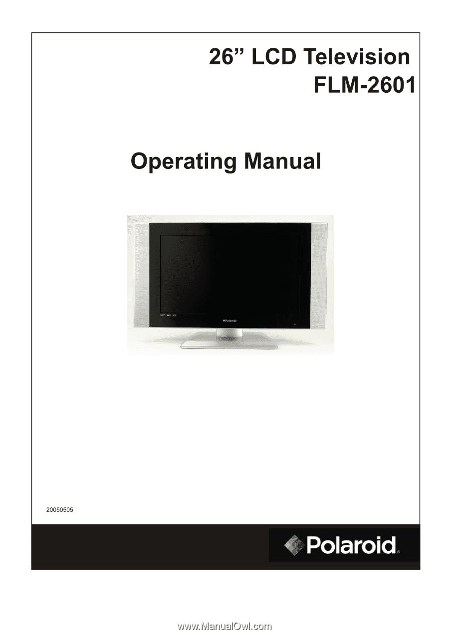 polaroid flm 2601 operation manual rh manualowl com Parts Manual HP Owner Manuals