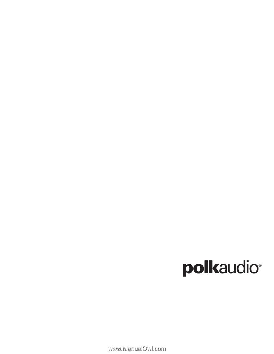 polk audio psw110 psw125 owner s manual polk psw110 service manual polk psw110 review