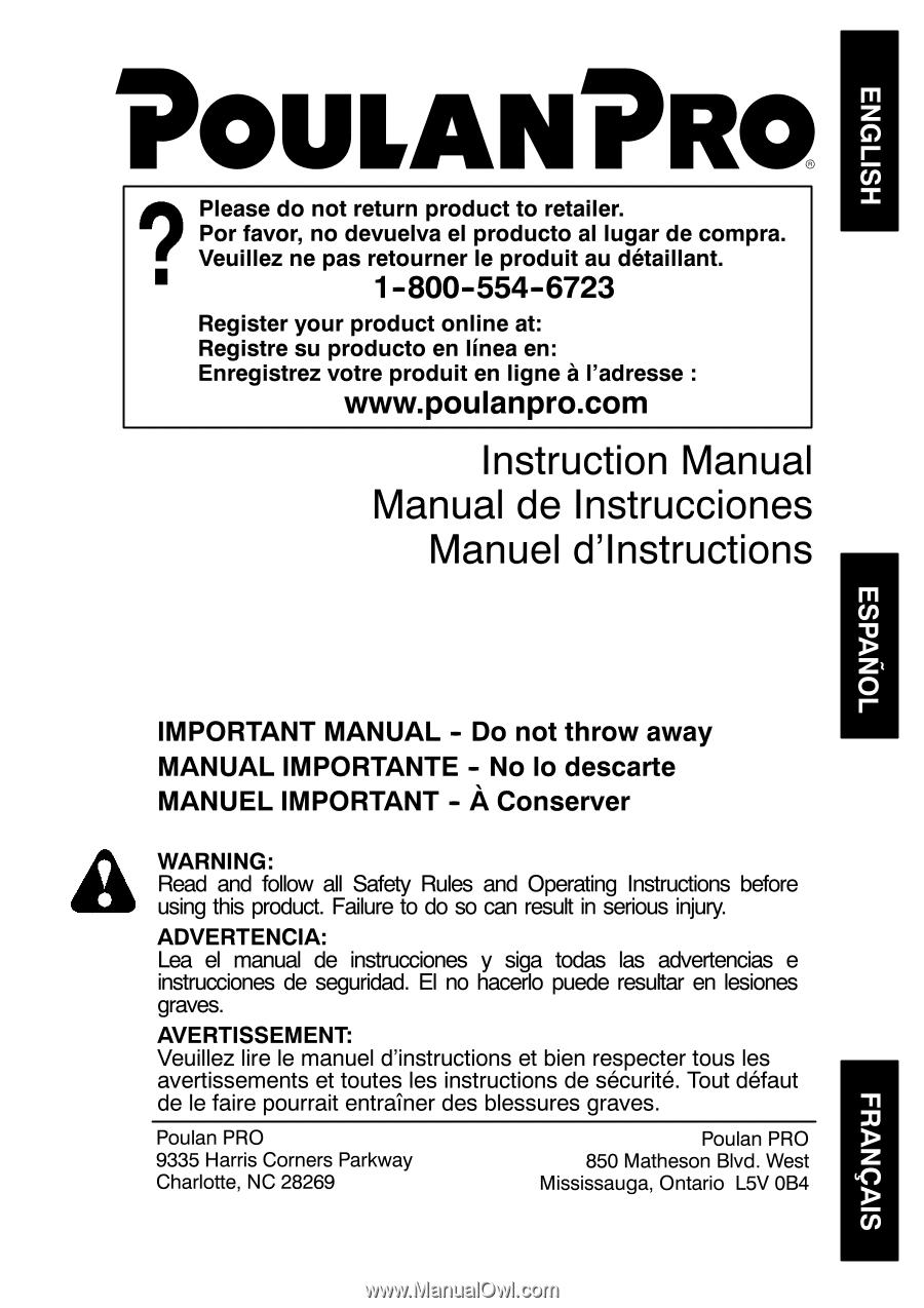 Poulan Pr46bt Owner Manual