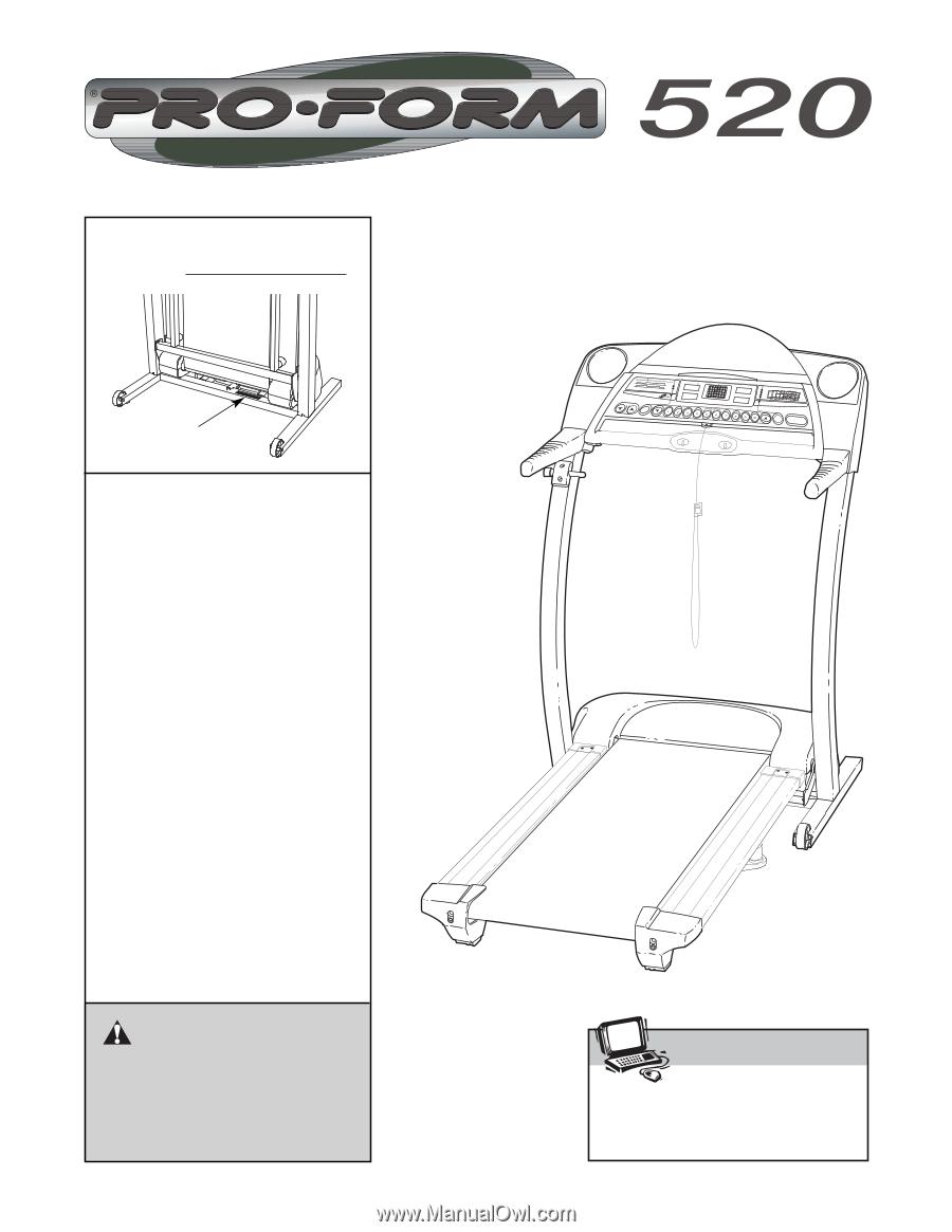 proform 520 treadmill english manual rh manualowl com proform 520 zn treadmill owners manual Proform Treadmill Space Saver