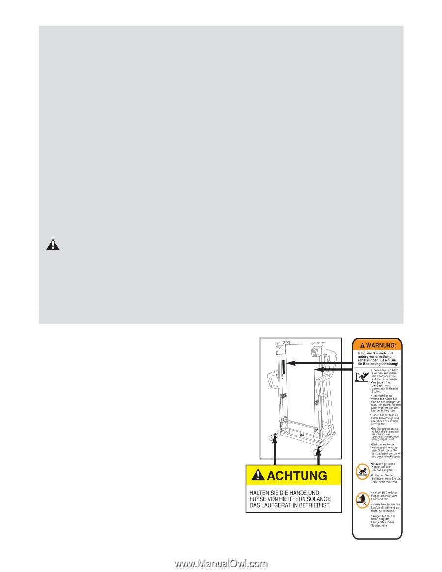 ProForm 560hr Treadmill   German Manual