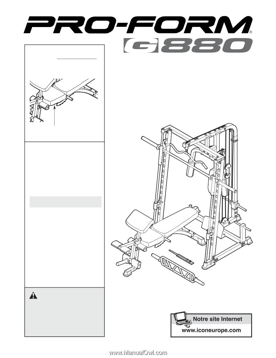 Banc De Musculation Proform G880