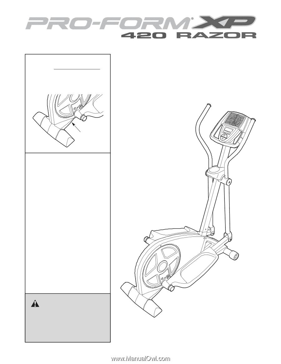 Proform xp 420 razor elliptical | english manual page 19.