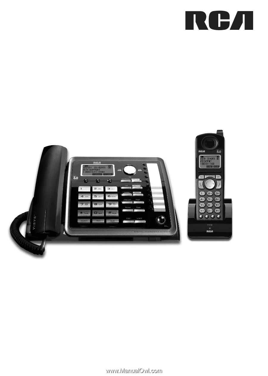 rca 25255re2 user guide rh manualowl com RCA ViSYS 25255RE2 Manual Corded Phone with Headset