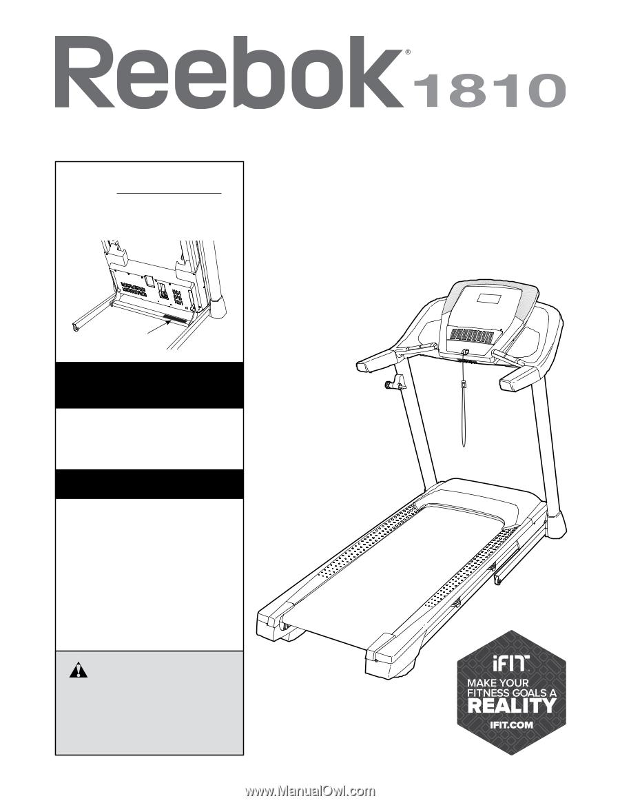 Reebok 1810 Treadmill English Manual