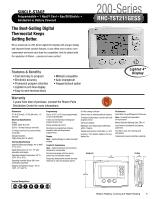 rheem 200 series instruction manual rh manualowl com rheem 200 series thermostat instruction manual Rheem Heat Pump Thermostat