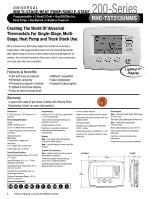 rheem 200 series instruction manual rh manualowl com Rheem Heat Pump Thermostat rheem 200 series thermostat instruction manual