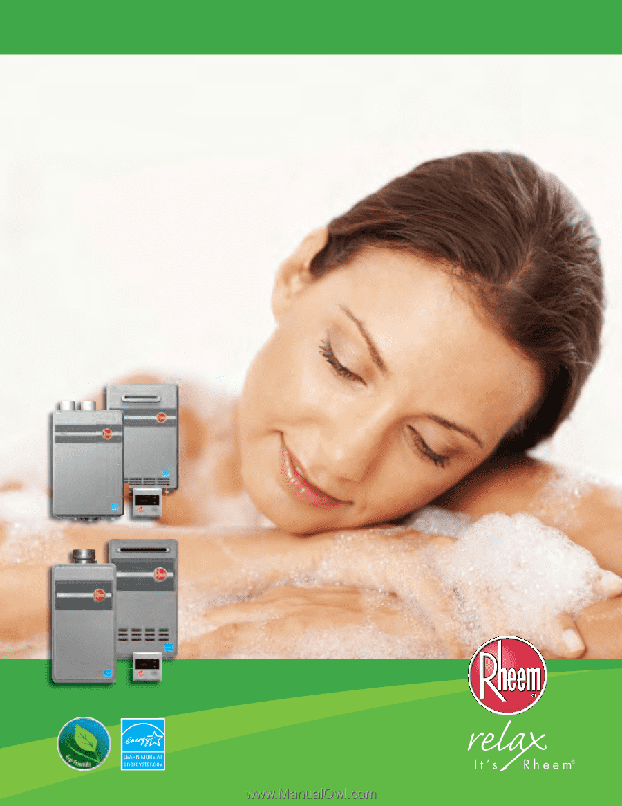 Rheem H84 Direct Vent Indoor Series Parts And Accessories
