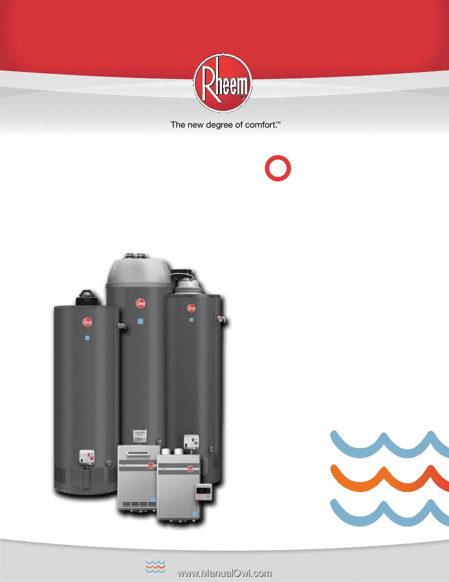 Rheem Fury Gas Series Brochure