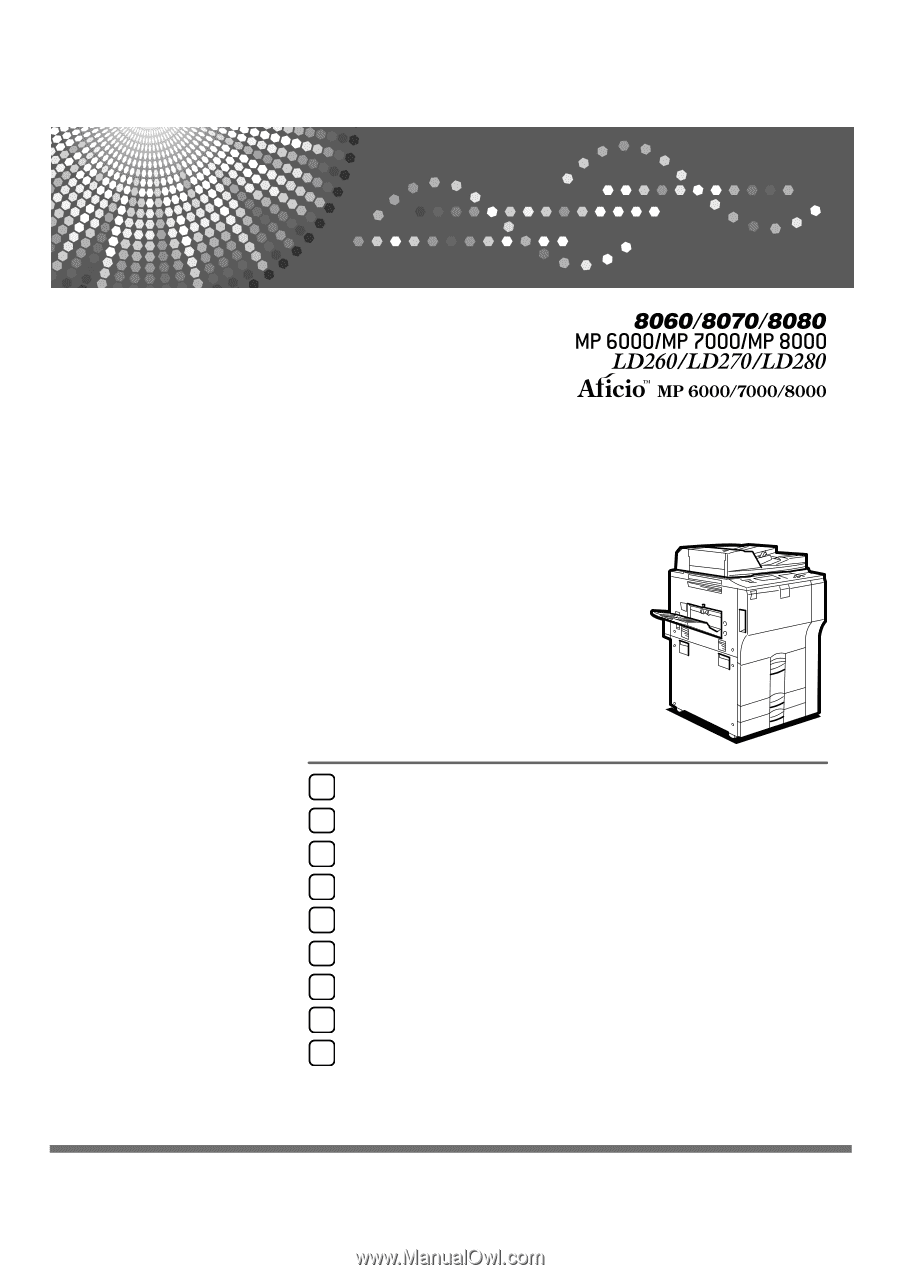 Ricoh Aficio MP 6000   General Settings Guide