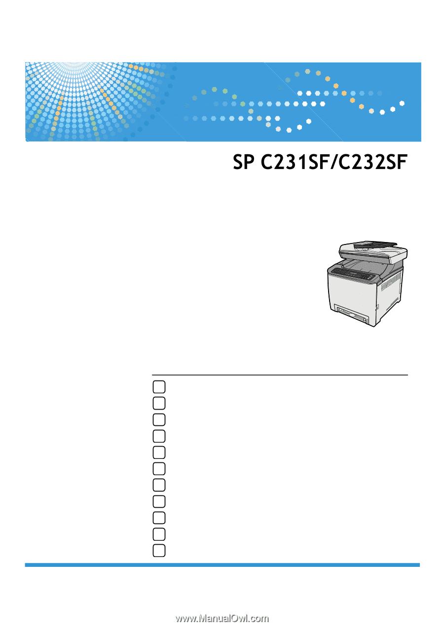 Ricoh Aficio SP C232SF Multifunction USB TWAIN/WIA Driver Download