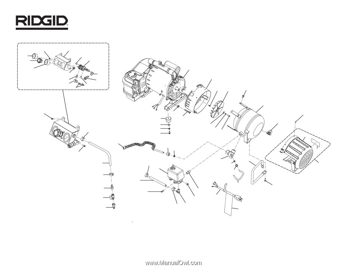 079027013079 Ridgid Air Hose 9in 5 Gallon Air Compressor OF50150TS
