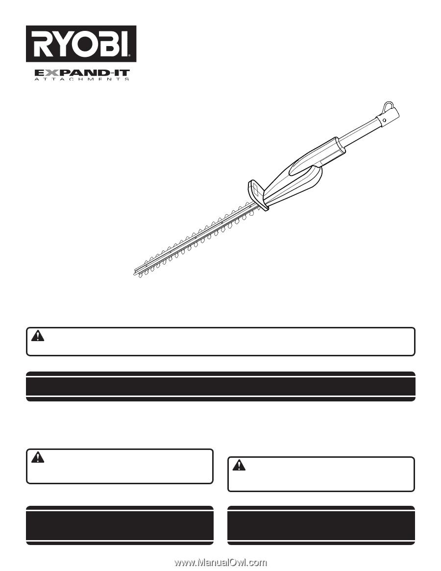Ryobi ry15703 operator 39 s manual for Taille haie ryobi 36v