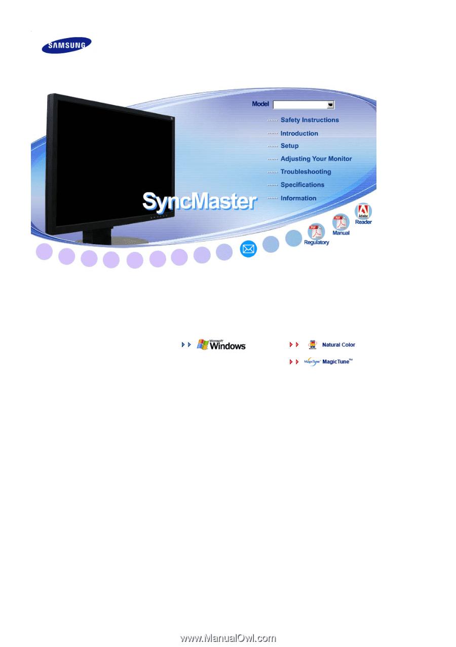 samsung 225bw user manual english rh manualowl com Samsung SyncMaster T217 Samsung SyncMaster 550V Manual