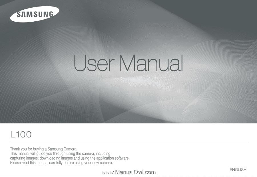 samsung l100 user manual rh manualowl com Samsung L100 Problems Samsung Camera L100