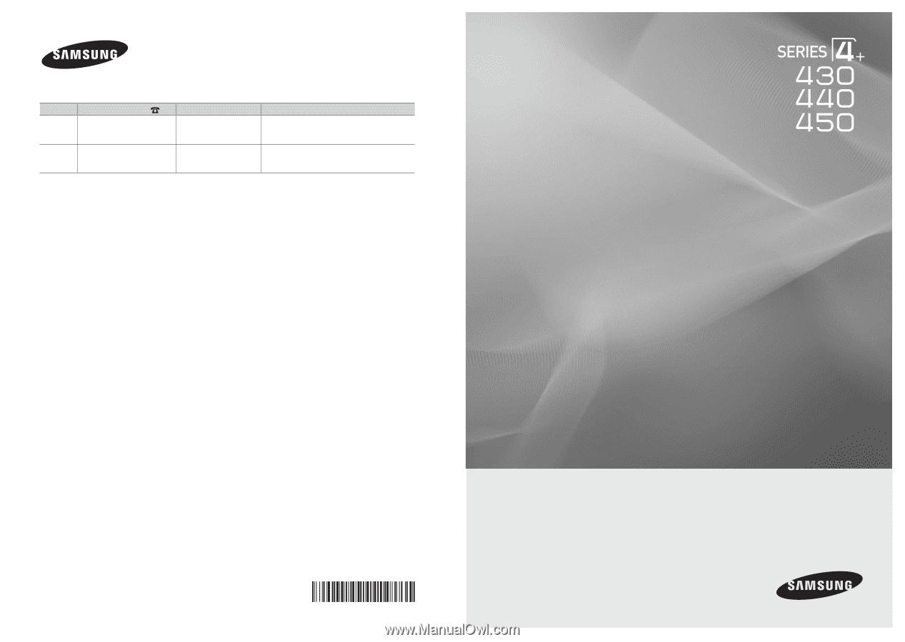 samsung pn43d450 user manual
