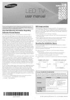 samsung tv model un46eh5000fxza manual