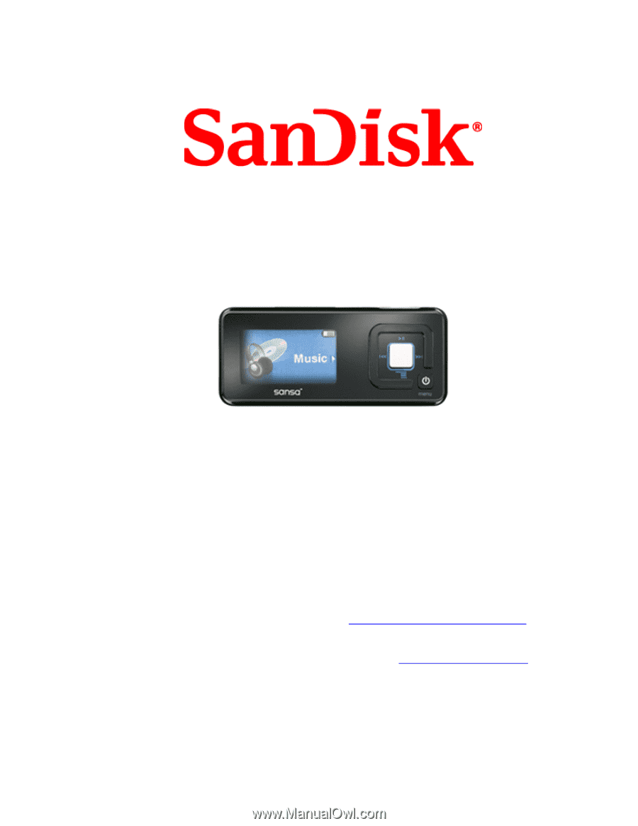 sandisk c250 user manual rh manualowl com Sansa Fuze sandisk sansa c250 manual