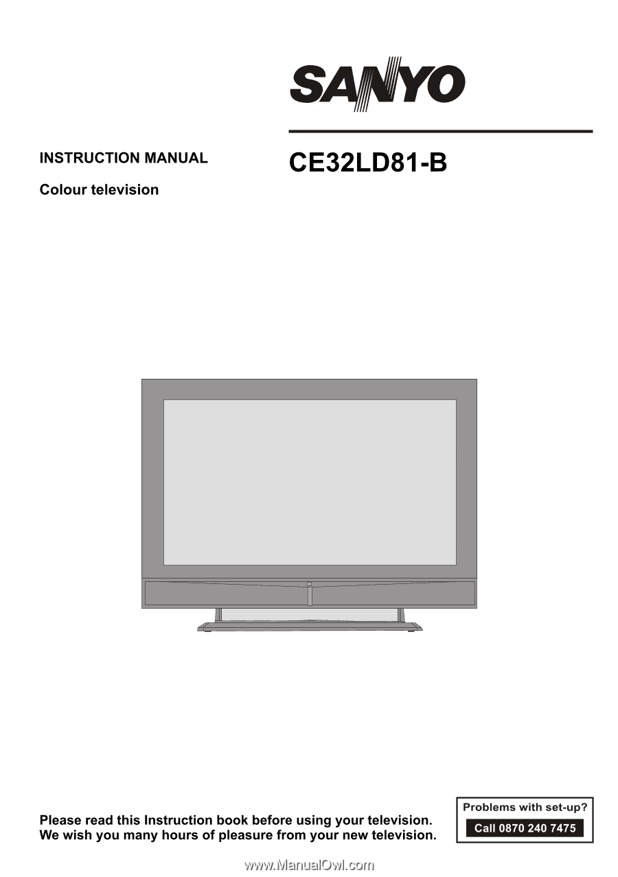 Sanyo CE32LD81 | Instruction Manual