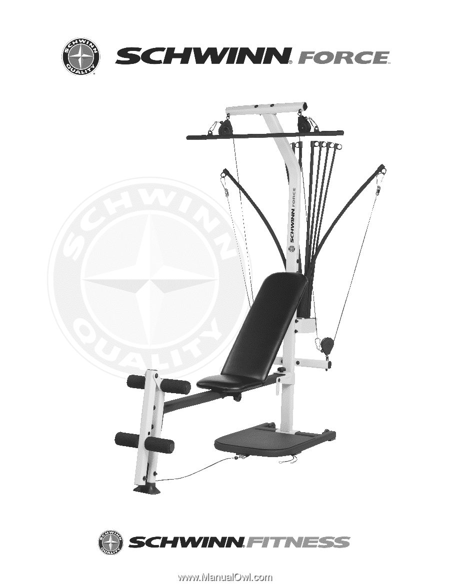 Schwinn force home gym assembly manual