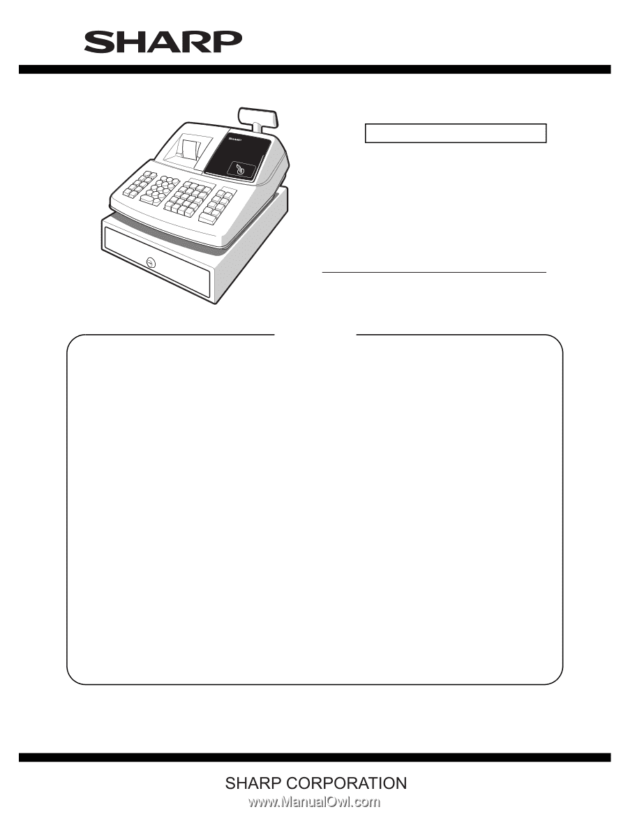 Sharp xe a203 service manual code 00z fandeluxe Image collections