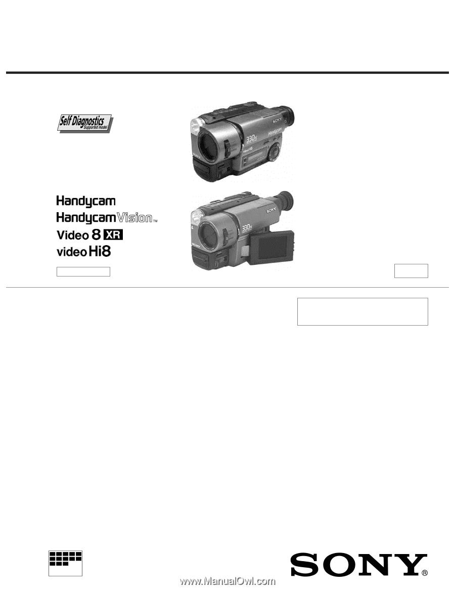 sony ccd trv16 service manual rh manualowl com Sony CCD Sensor Sony Super HAD CCD Cameras