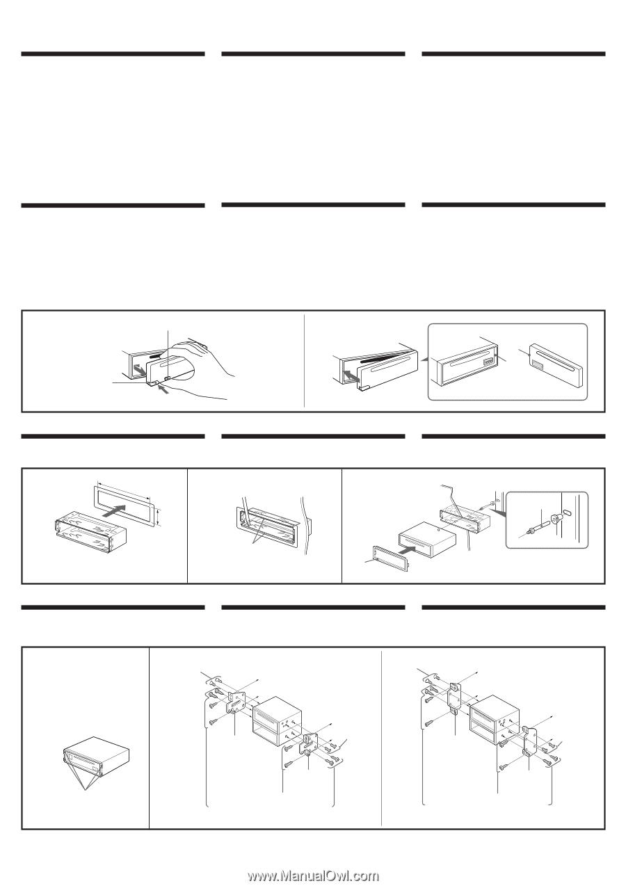 Sony Cdx 4180 Instalation Manual