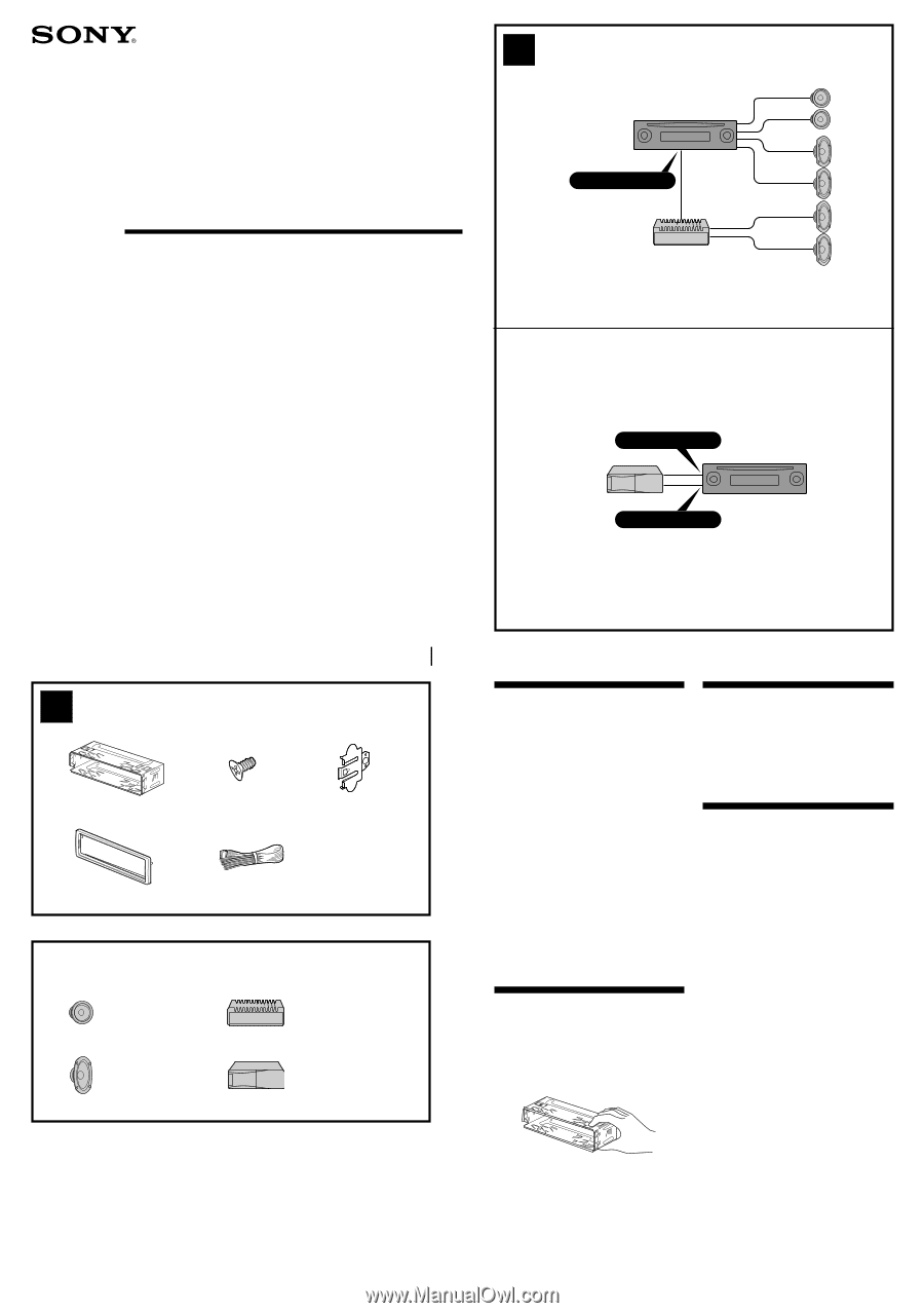 sony cdx connection instructions