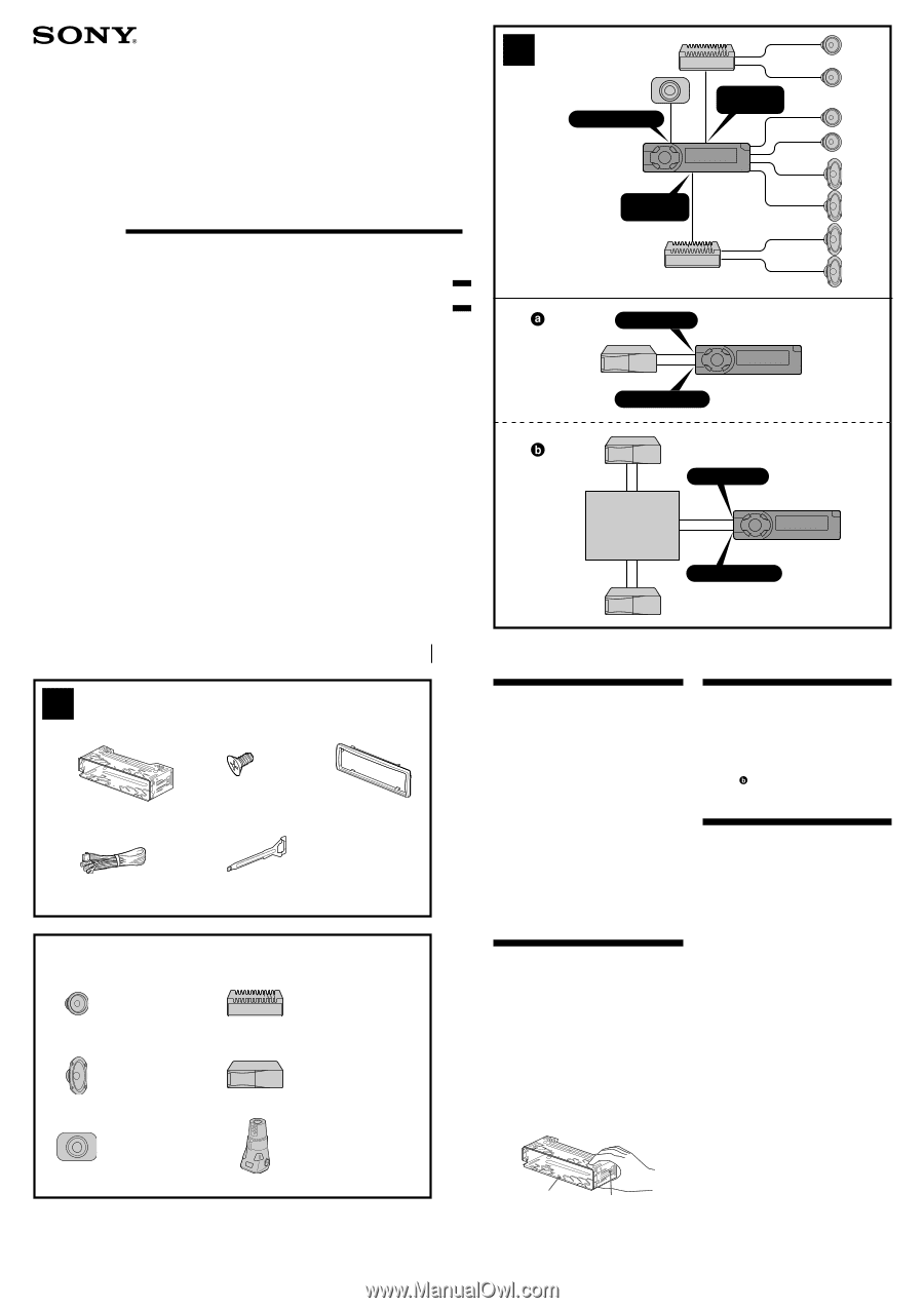 sony cdx connections instructions