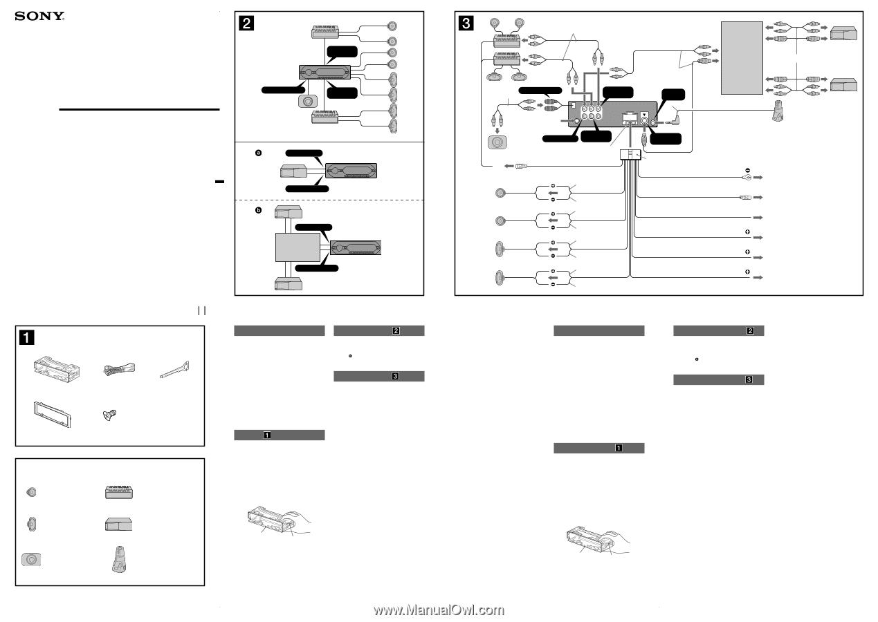 Sony Cdx Gt520 Wiring Diagram from www.manualowl.com