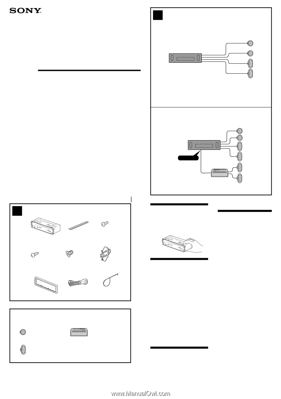 Sony Cdx L250 Wiring Diagram For Content Resource Of Xplod Deck Installation Connections Rh Manualowl Com Stereo Colors