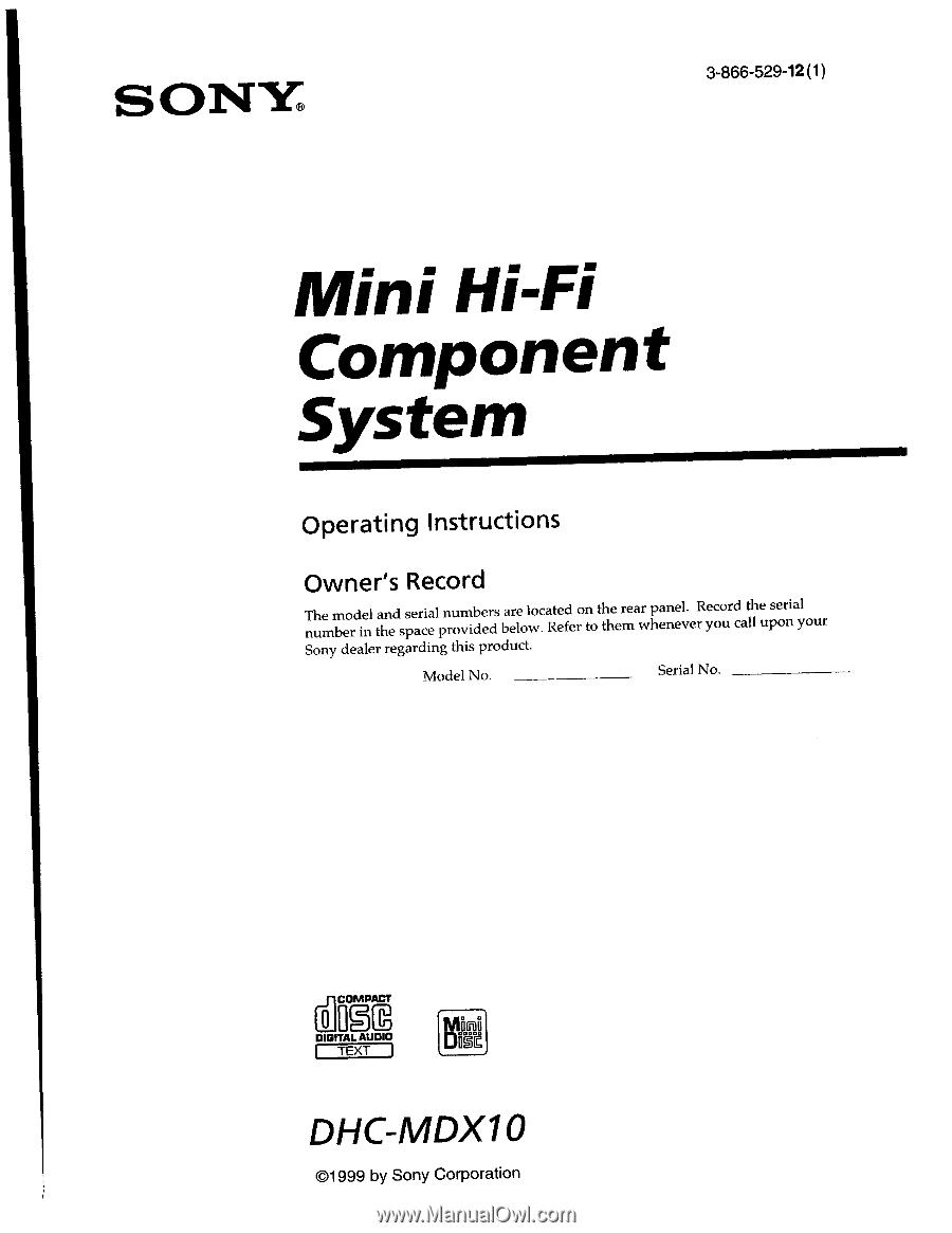 sony xbr65x850dom operating manual Array - sony dhc mdx10 operating  instructions primary manual rh manualowl com