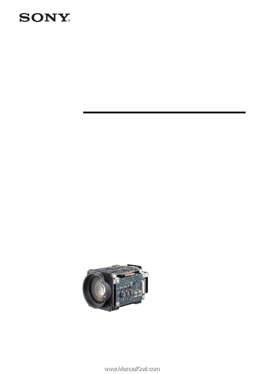 Sony FCBH11 | Product Manual (FCB-H11 Technical Manual)