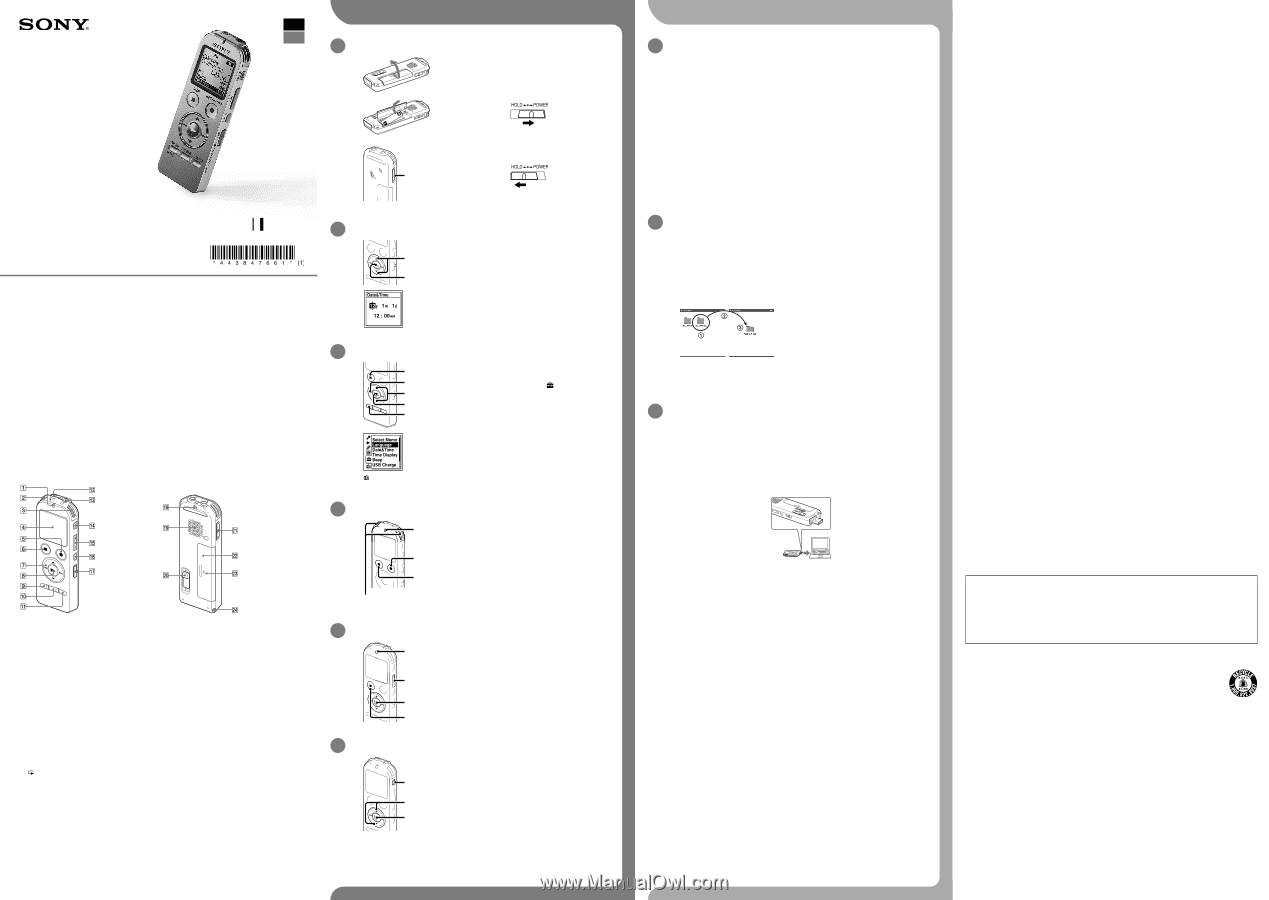 sony icd ux533 manual pdf