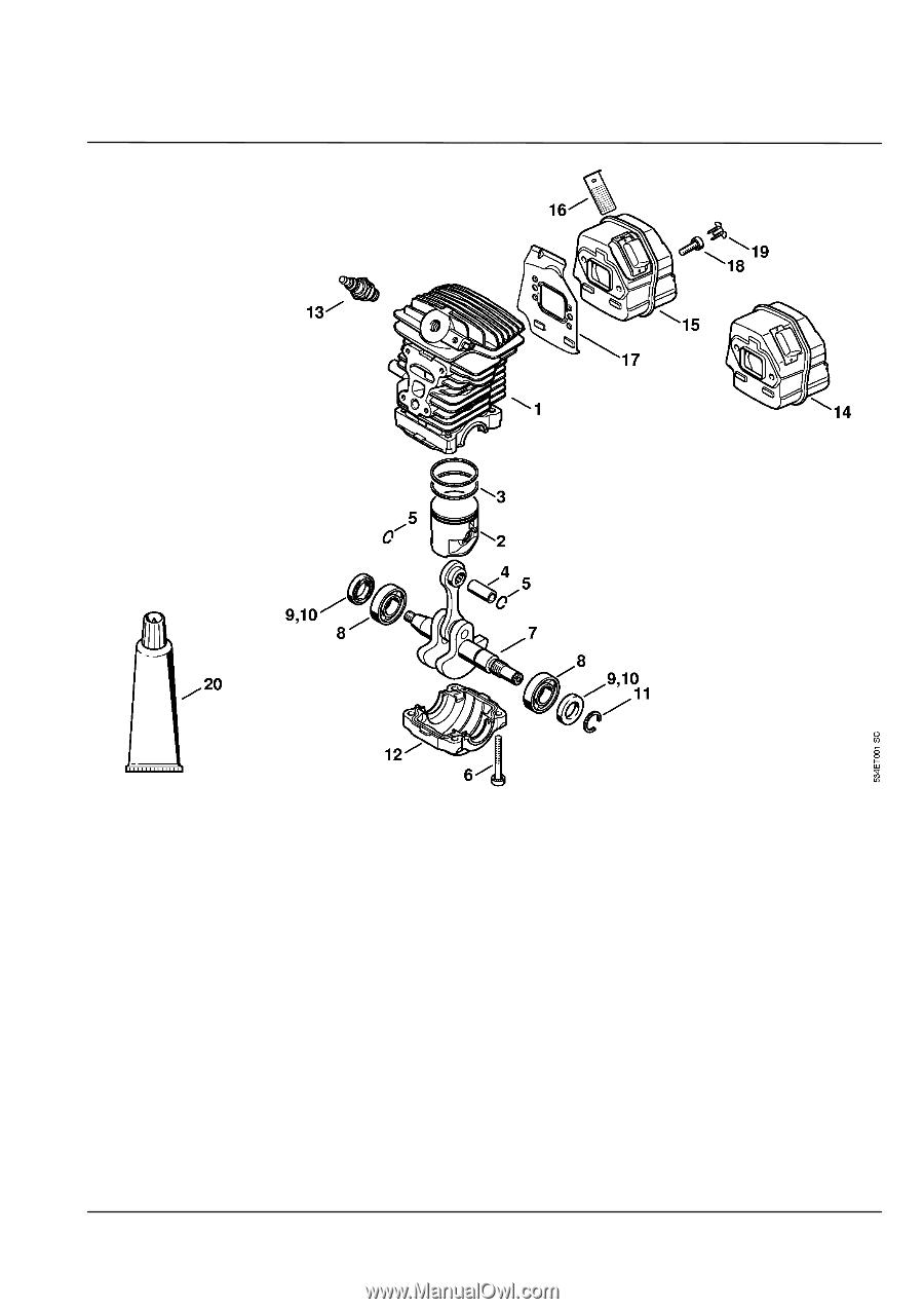 Stihl MS 181    C   BE      Parts       Diagram     Page 5