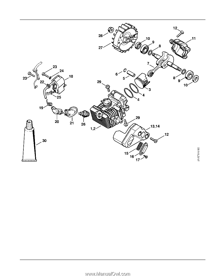 stihl ms 192 t c-e parts diagram