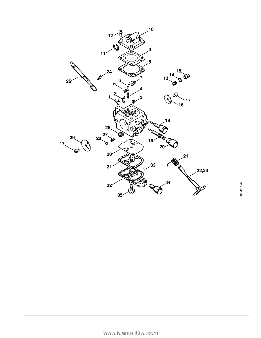 Stihl MS 192 T    C   E      Parts       Diagram     Page 25