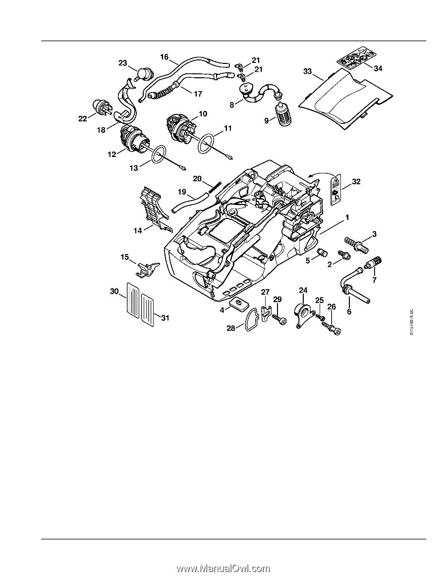 Stihl    MS    192 T CE      Parts       Diagram     Page 7
