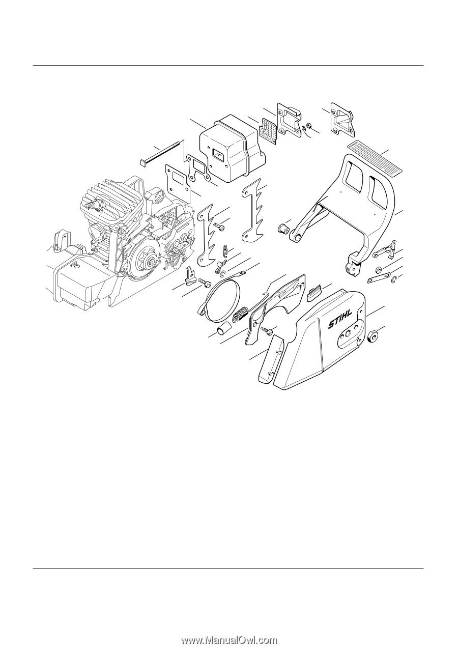 stihl 011av parts diagram stihl farm boss ms 290 parts diagram stihl ms 290 stihl farm boss | parts list - page 18