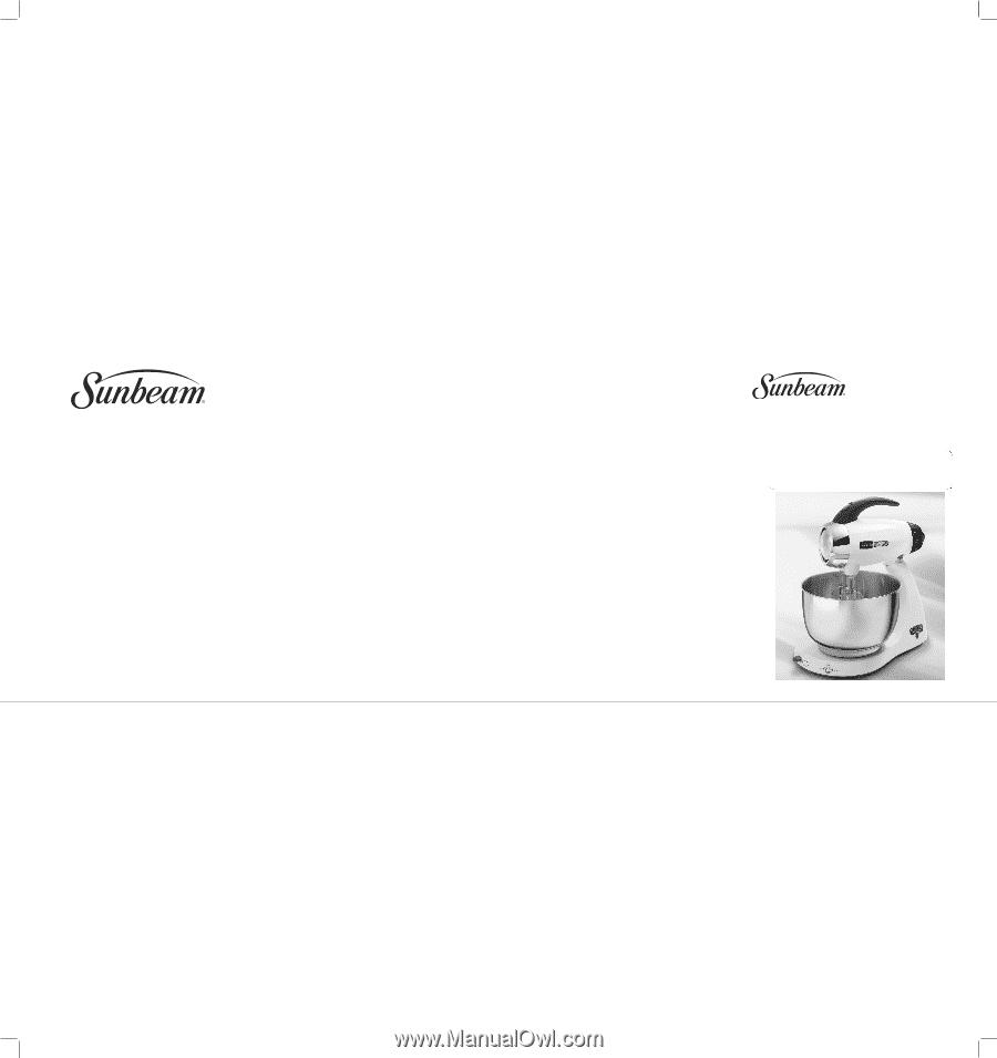 sunbeam cafe series user manual