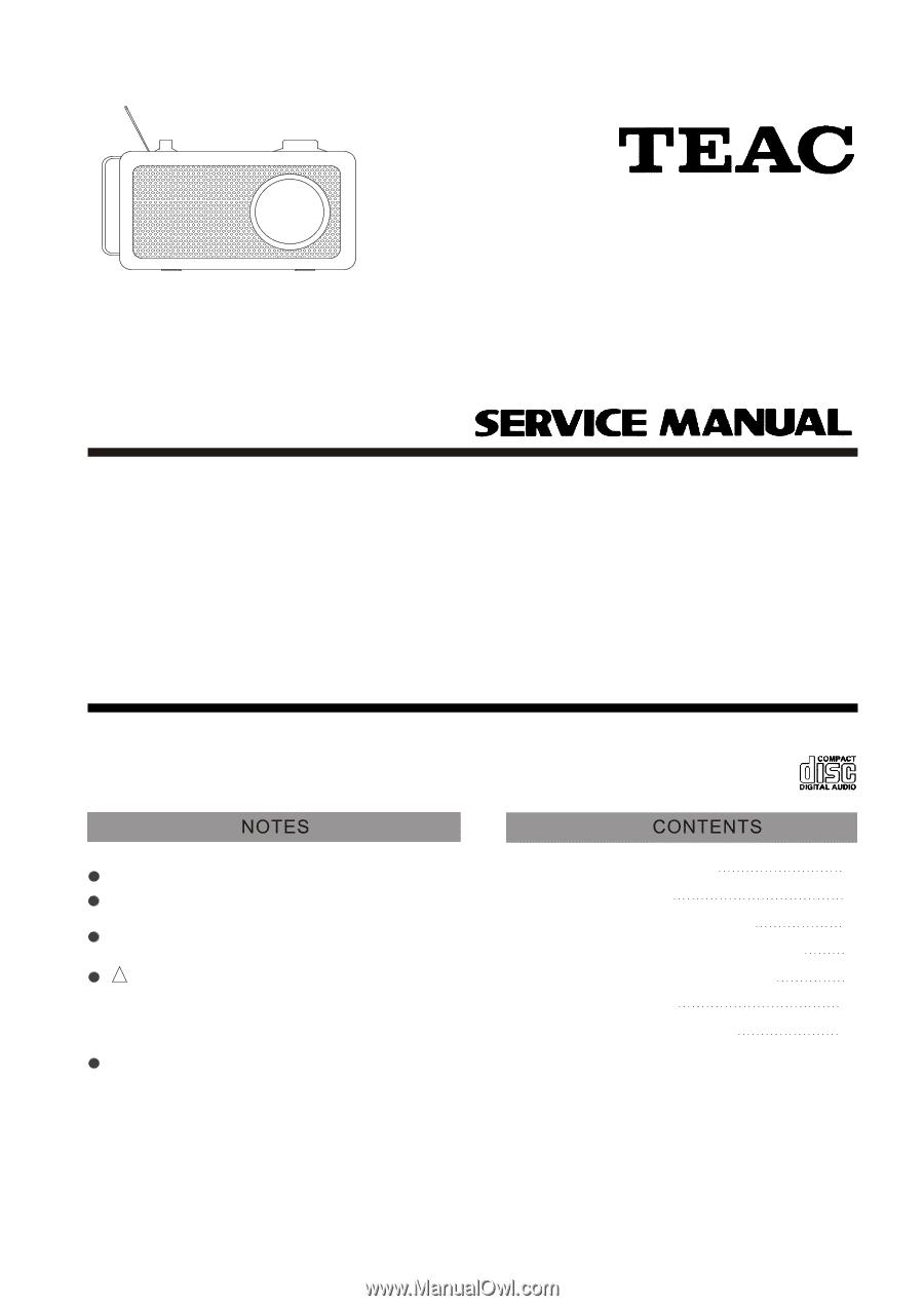 TEAC R2 | Service Manual
