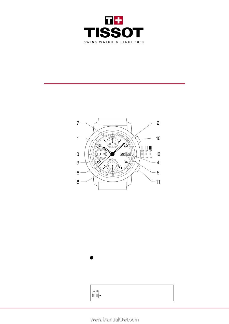Tissot t-complication squelette manual.
