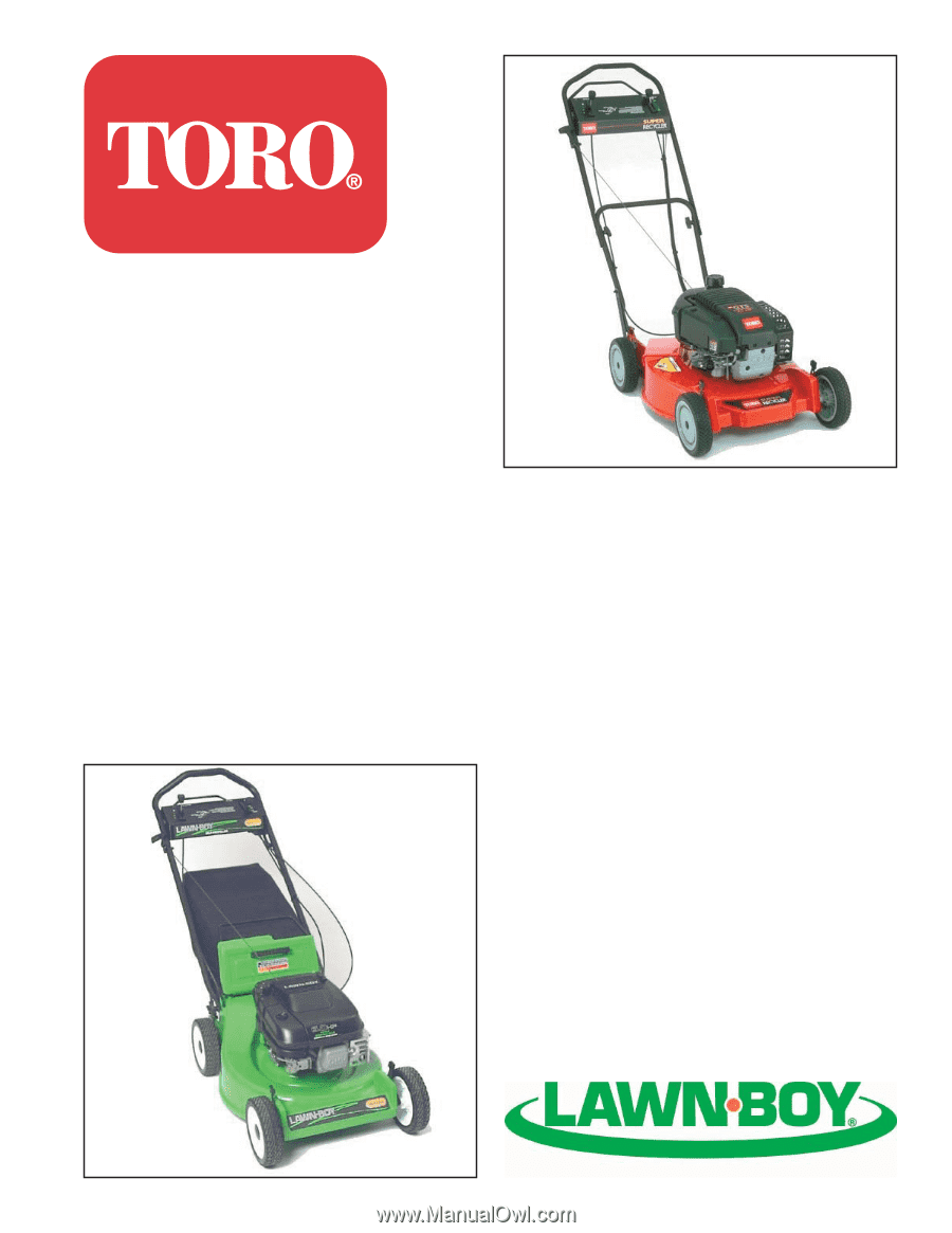 toro 20330 service manual rh manualowl com toro lawn mower model 20330 manual Toro Recycler Self-Propelled Mower
