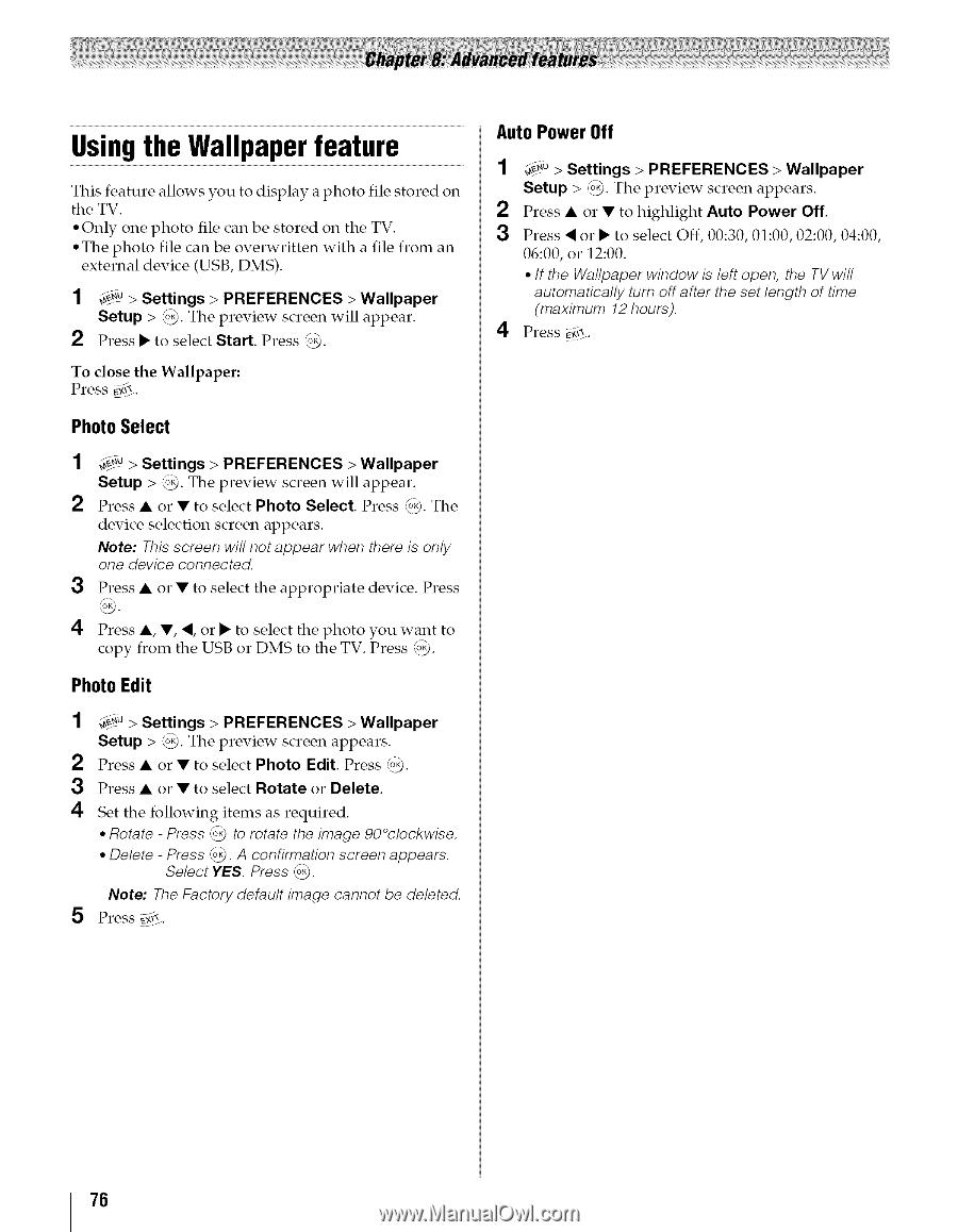 Toshiba 42TL515U | Owners Manual - Page 78