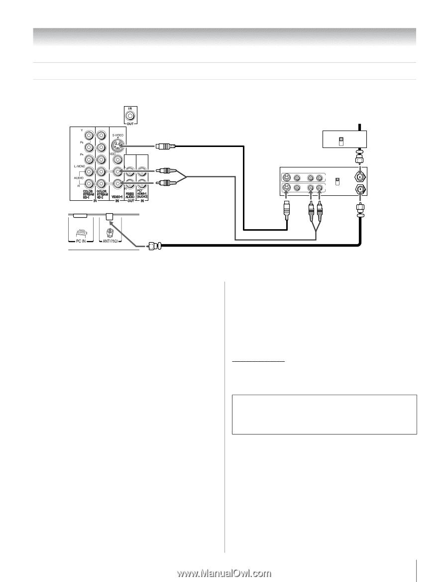 Toshiba Regza 46rf350u Manual Monotrol Pedal Wiring Diagram 14 Array Owner U0027s English Page 22 Rh Manualowl Com