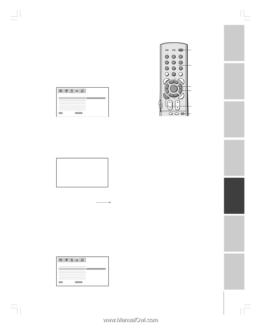 toshiba 62hm84 owner s manual english page 60 rh manualowl com Toshiba Laptop User Manual Toshiba Remote Manuals