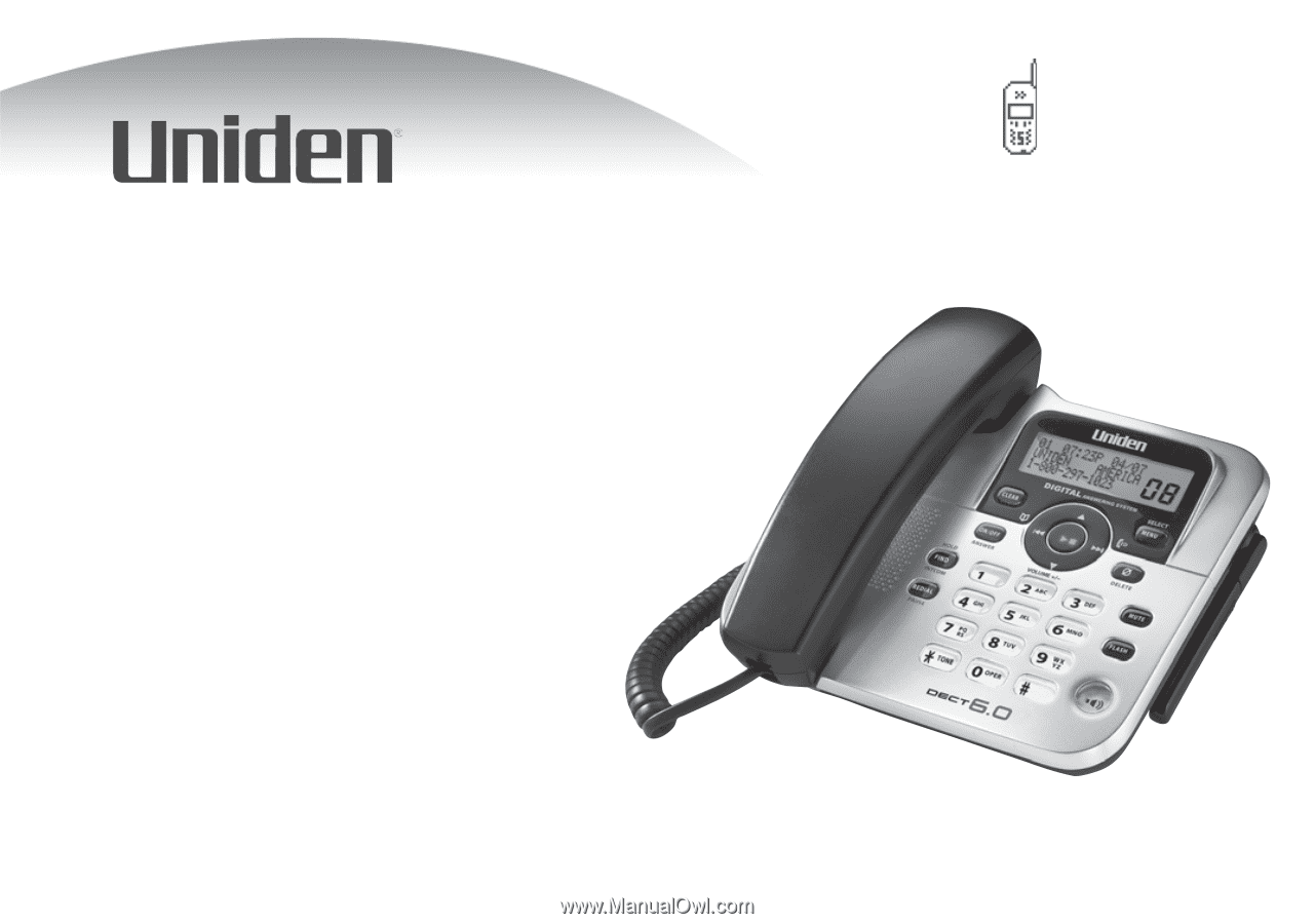 uniden dect1588 english owners manual rh manualowl com Uniden Owner's Manual Uniden Answering Machine Manual