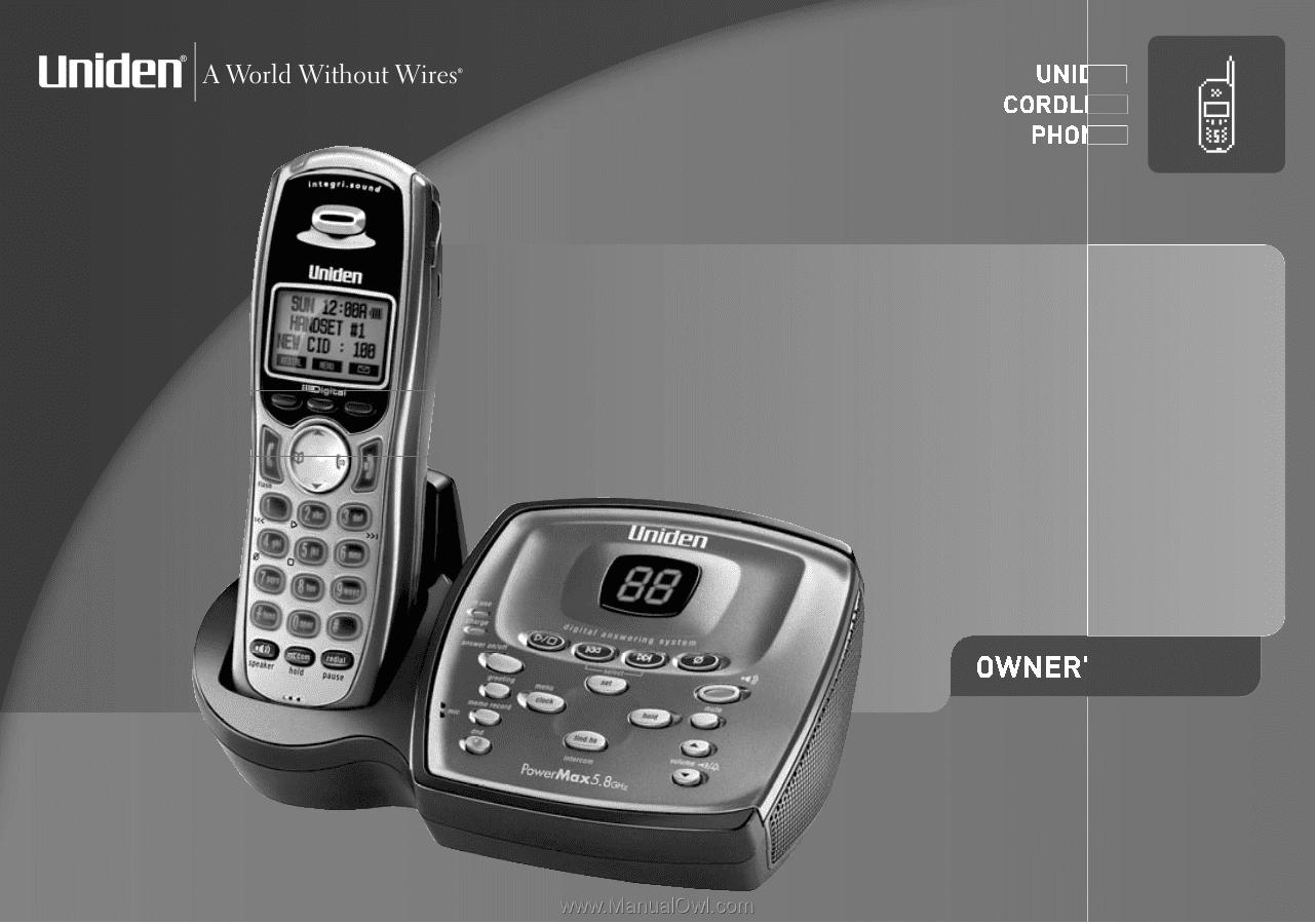 uniden tru9480 english owners manual rh manualowl com Uniden Bearcat Scanner Manual Uniden Surveillance System Install