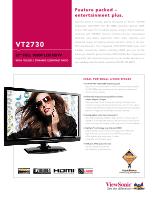 Viewsonic vt2730 manual.